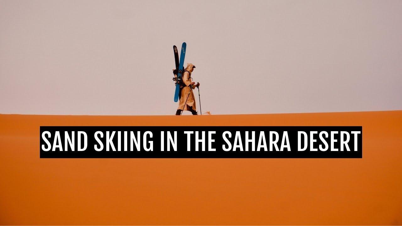 11: Sand skiing in the Sahara desert of Morocco
