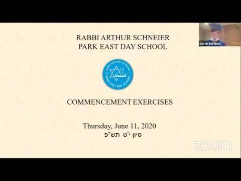 Rabbi Arthur Schneier Park East Day School Graduation 2020