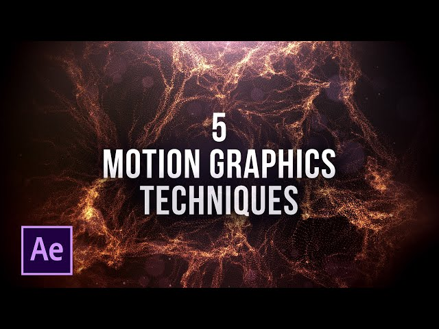 5 Quick Motion Graphics Animation Techniques in After Effects