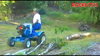 Skidding Firewood With Sears Garden Tractor
