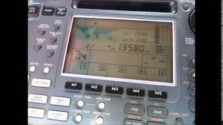 Bangladesh Betar, start of programme on 13580 Khz