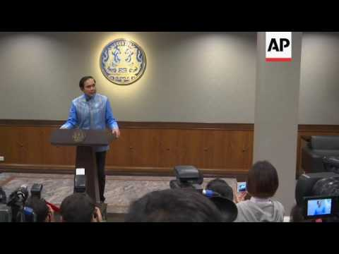Thailand's leader says elections in November 2017