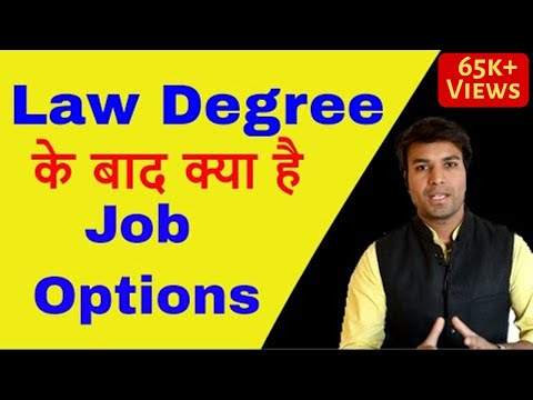 Jobs after Law Degree | Career Options after School. CLAT, A