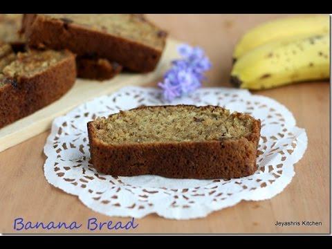 eggless banana bread recipe jeyashris kitchen - Jeyashris Kitchen