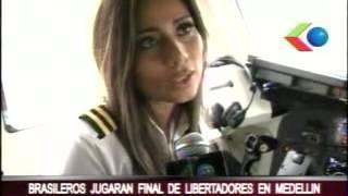 شاهد: عارضة الأزياء ومساعدة طيار طائرة الفريق البرازيلى المنكوبة في أول وأخر رحلة لها