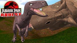 Jurassic Park (Roblox) - Briga Contra 3 T-REX, Velociraptor no Sandbox! - (#12) (Gameplay PT-BR)