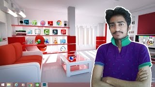 how to make a beautiful classic 3d desktop in windows in hindi