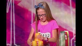 Zobacz 11-letnią Julię i mistrzowski pokaz z kubkami! [Mam Talent!]