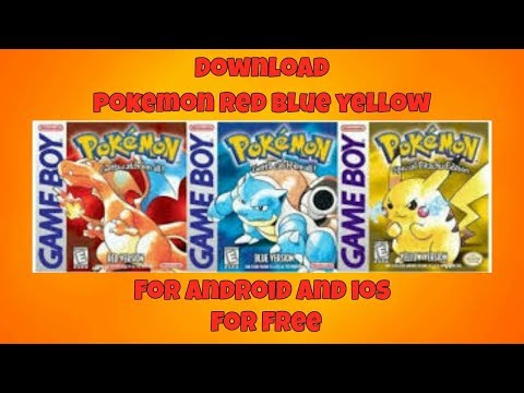How To Download Pokemon Red,Blue Or Yellow Version On Android Or IOS
