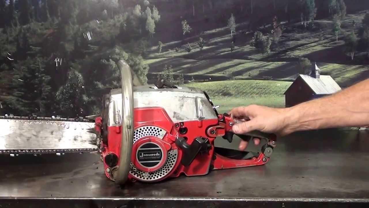 The chainsaw guy shop talk Vintage Jonsereds chainsaw 9 9