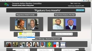 Tanzania 2015 general election online voting system