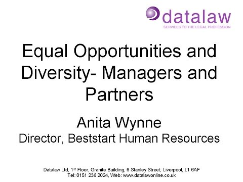 Equal Opportunities and Diversity  Managers and Partners