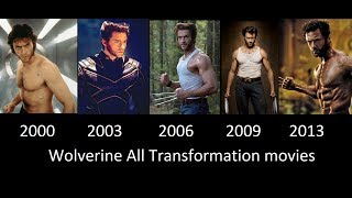 Wolverine Transformation in Movies- 2000- 2003- 2006- 2009- 2013 [Wolverine transformacion]