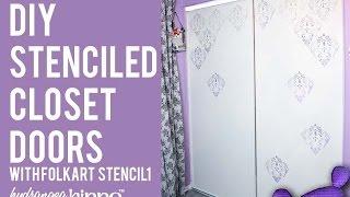 How To Stencil Closet Doors - With Folkart Stencil1 Stencils