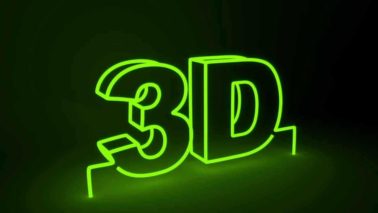 V Letter 3d Wallpaper Blender 3d Neon Sign Text Flicker Youtube