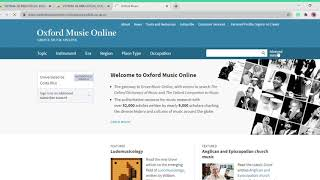 Tutorial sobre Grove Music Online