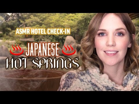ASMR Hotel Check-In: Japanese Hot Springs
