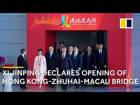Chinese President Xi Jinping declares Hong Kong-Zhuhai-Macau Bridge open