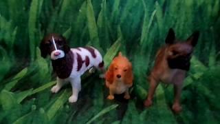 Обзор на фигурки собаки для кукол домошние животные 3 штуки