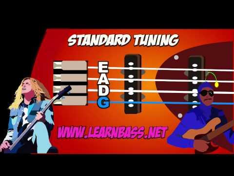 bass guitar tuner - standard e-a-d-g (nice & loud)