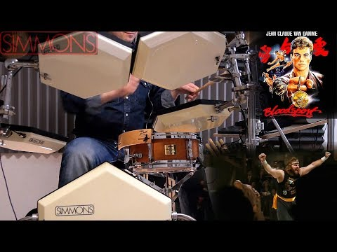 Paul Hertzog  Fight To Survive Bloodsport Soundtrack  🎧 DRUM  ⬢ SIMMONS SDS 8 ⬢