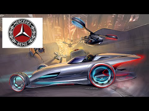 Mercedes Benz Bilver Lightning at action(Asphalt-8:Airborne)