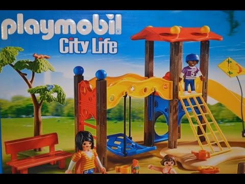 Playground Set by PLAYMOBIL Swing Slides Sand Toys Figurines Have Fun at the Park Toy Review
