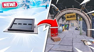 SECRET BUNKER FOUND in NEW FORTNITE SNOW MAP!
