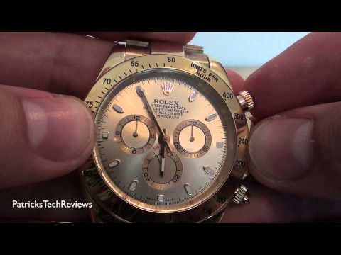 "Thumbnail: Rolex Replica Daytona Oyster Perpetual ""18k gold"" superlative chronograph officially certified"
