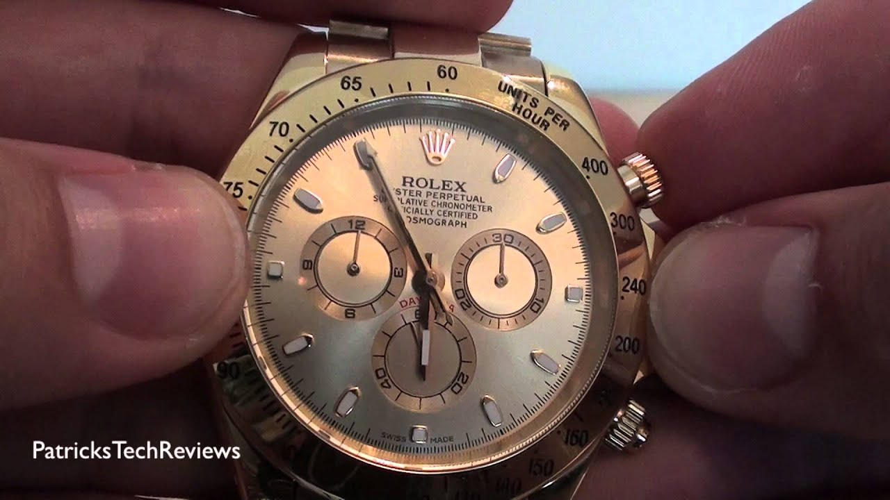 rolex replica daytona oyster perpetual 18k gold superlative rh youtube com 1992 Rolex GMT 1992 Rolex GMT