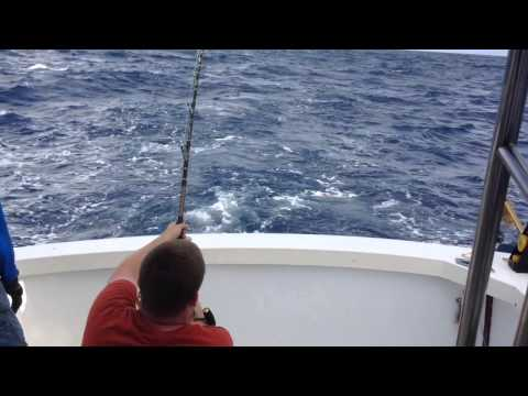 Offshore Fishing The Edge for Wahoo on Got It (Bertram 35) - Bermuda - July 2014
