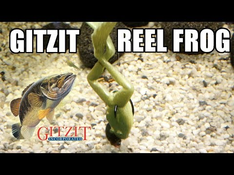 Gitzit: Reel Frog! Lure action on a Texas Rig! Underwater! Full HD