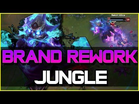 BRAND REWORK JUNGLE GAMEPLAY | League of Legends