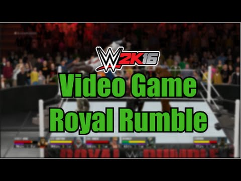 WWE 2K16   Video Game Royal Rumble