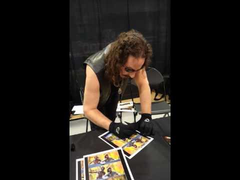 Ari Lehman signing autographs