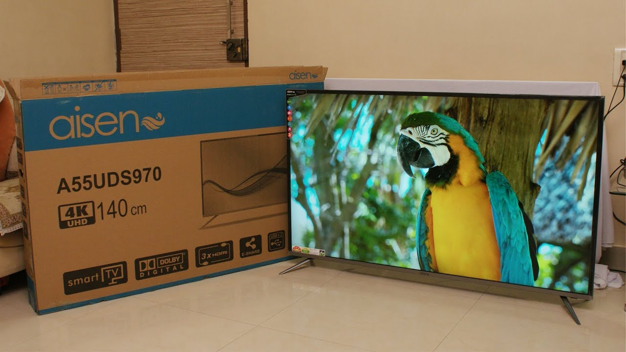 Aisen 55 inch 4K UHD smart LED TV review price Rs  52,990