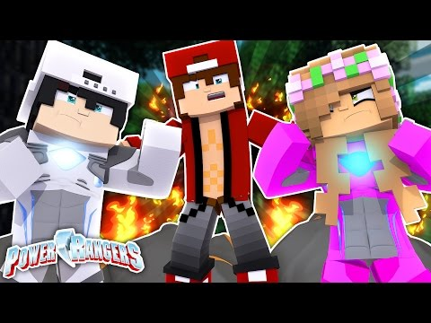 RAVEN AND LITTLE KELLY FALL IN LOVE AS POWER RANGERS! Minecraft Love Story (Roleplay)