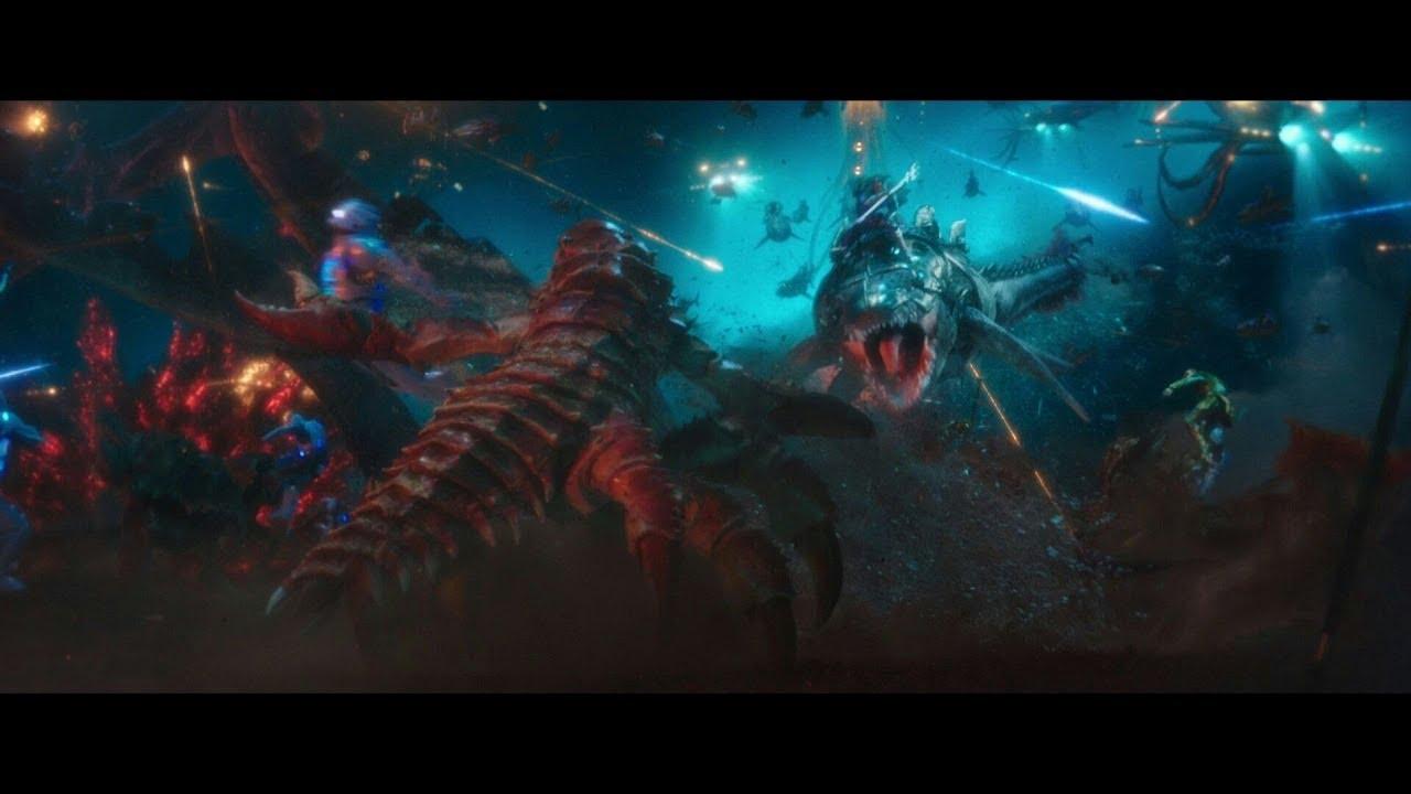 AQUAMAN Final Underwater Full Fight Scene (Part 1) 1080p