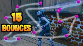 *Easiest Way* Get 15 Bounces In A Single Throw (Fortnite Season 8)