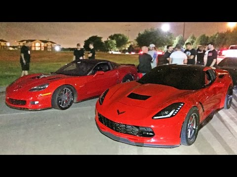 60-190MPH Corvette Street Race - C6 Z06 vs C7 Stingray