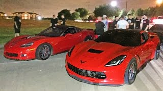 60-190MPH Corvette Street Race - C6 Z06 vs C7 Stingray
