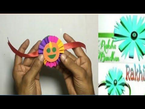 Smily Rakhi Bracelet for Raksha Bandhan || Handmade diy || Design 1 || paper folding rakhi