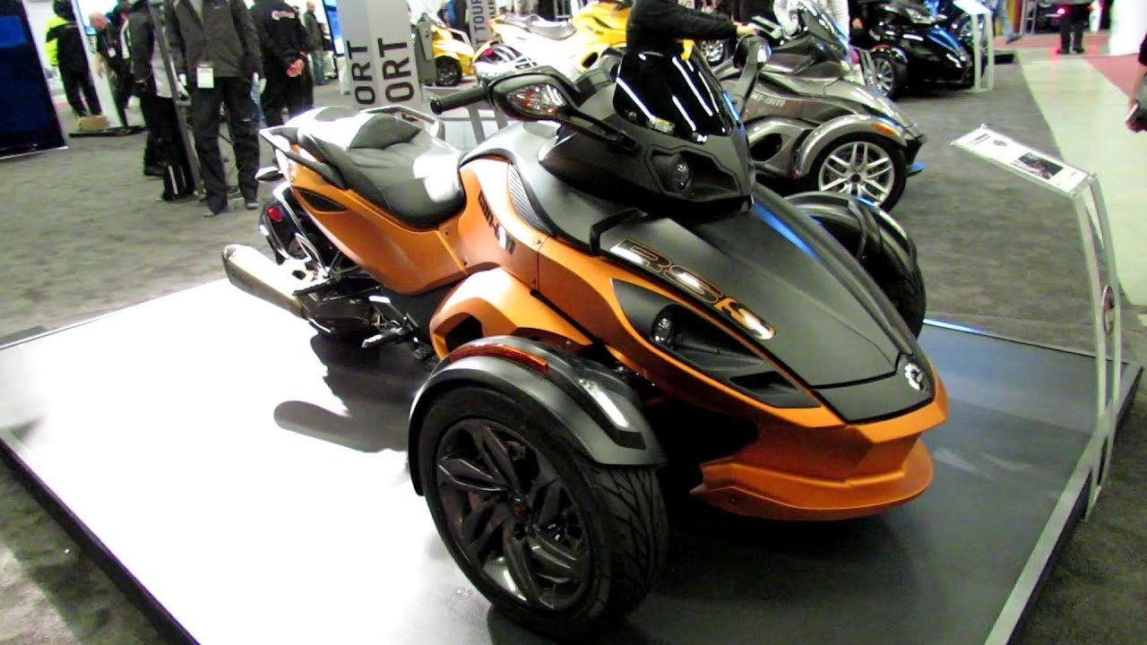2013 can am spyder rs s walkaround 2013 montreal motorcycle show youtube