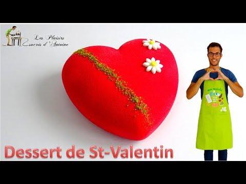 """DESSERT SAINT-VALENTIN Framboise-Pistache avec les produits """"Trésors de Chefs"""""""