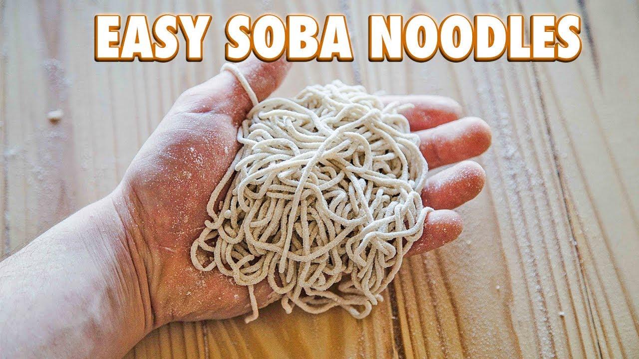 How To Make Easy Handmade Soba Noodles Youtube
