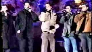 "Nsync performs the national anthem, ""The Star Spangled Banner"". I'm..."