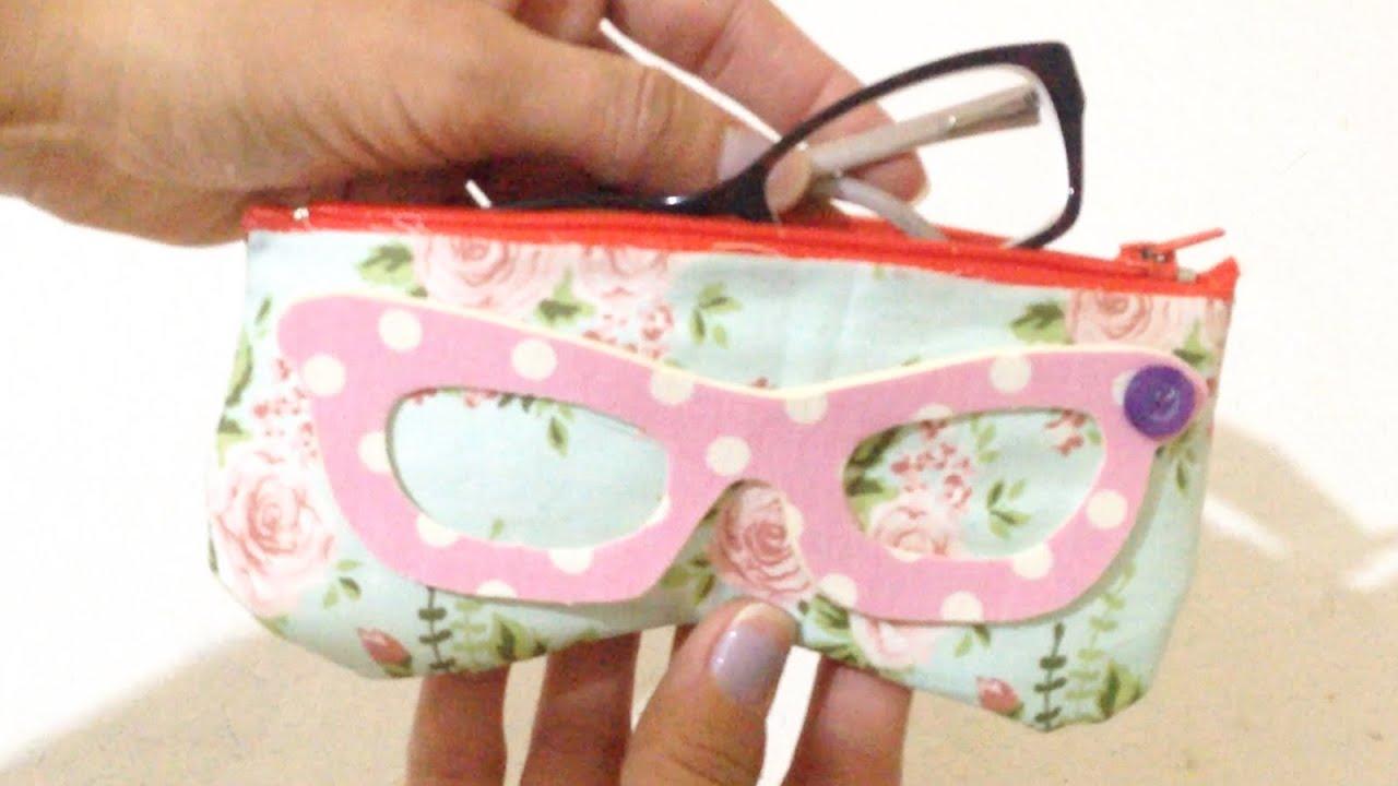 Como Fazer Porta Óculos em Tecido Sem Costura - DIY Artesanato - YouTube cdf397a454