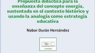Nabor Durán Hernández - Propuesta didáctica usando la analogía como estrategia educativa