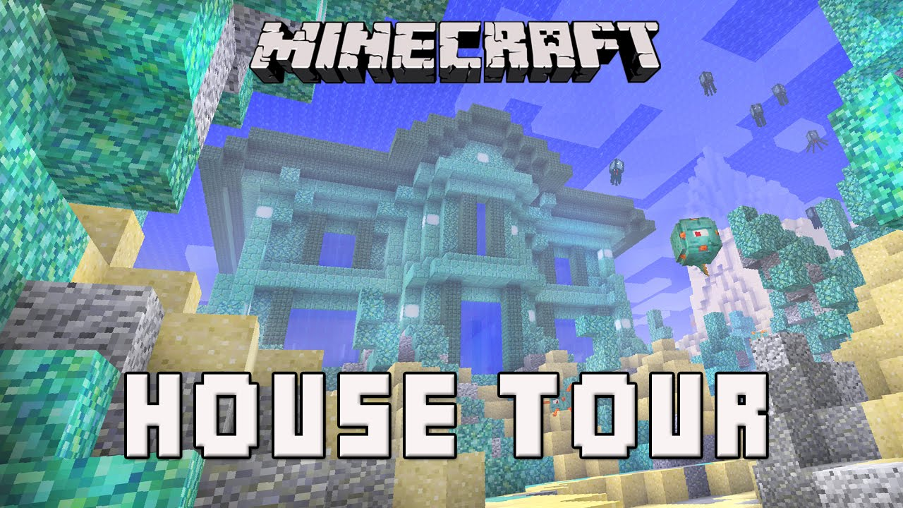Minecraft Awesome Underwater House Tour Coral House Part 16 Youtube