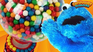 Learn Colors with Cookie Monster and Gumballs!